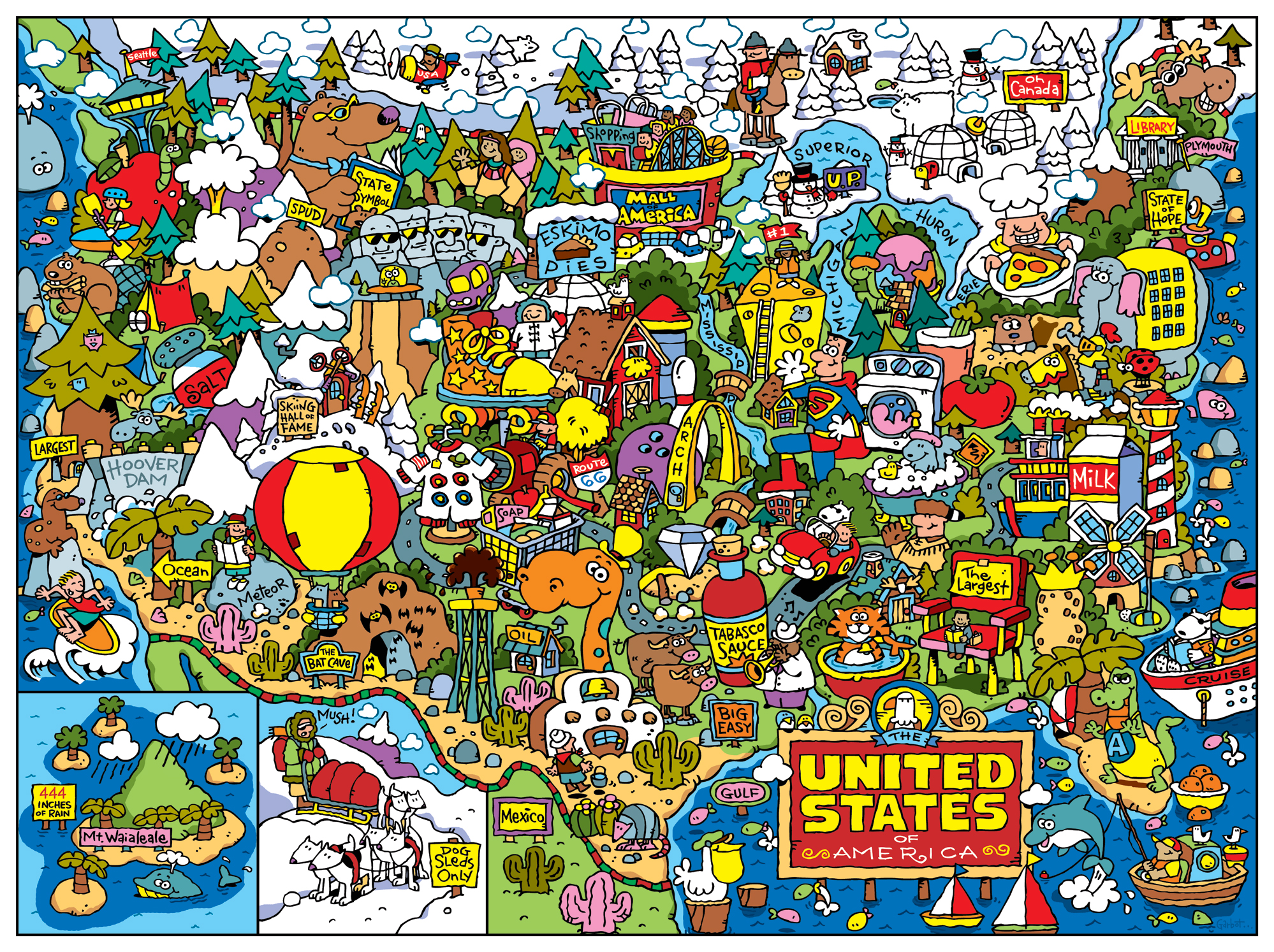 US Fun Map... - Dave Garbot